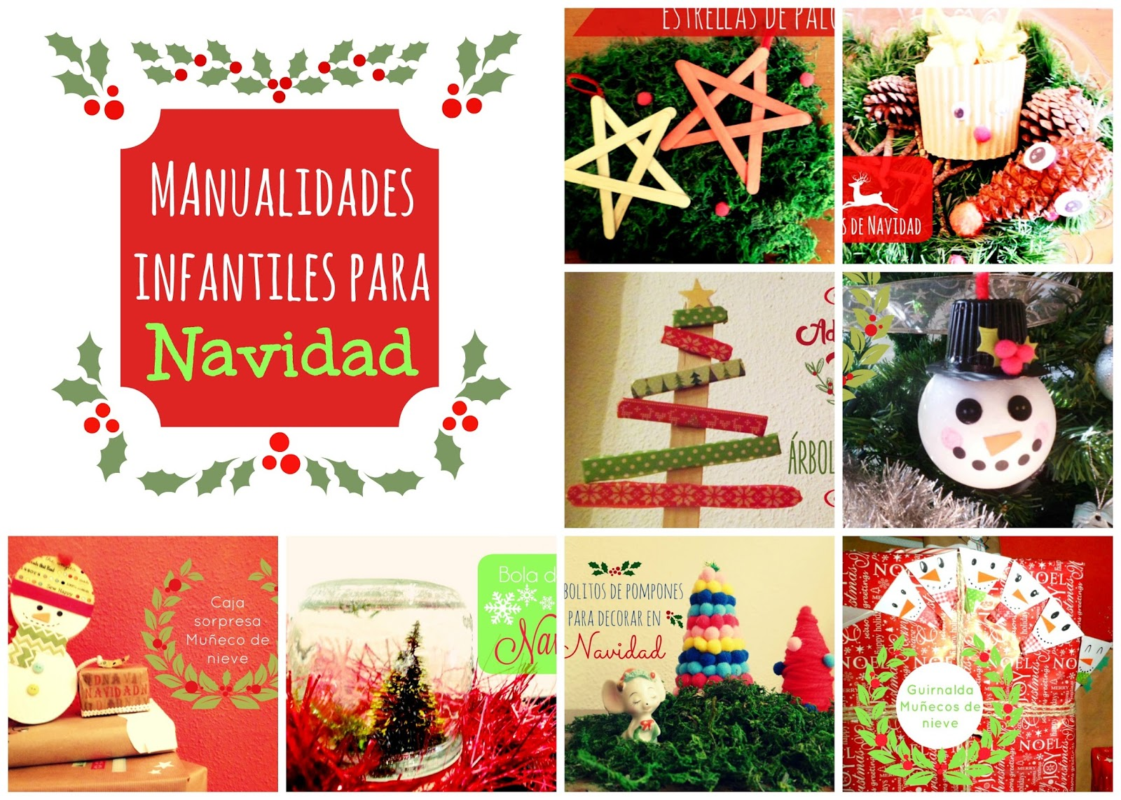 Materiales diy manualidades infantiles para navidad for Manualidades para diciembre