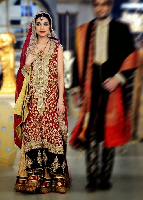 Deepak Perwani Stylish wedding dresses 2014