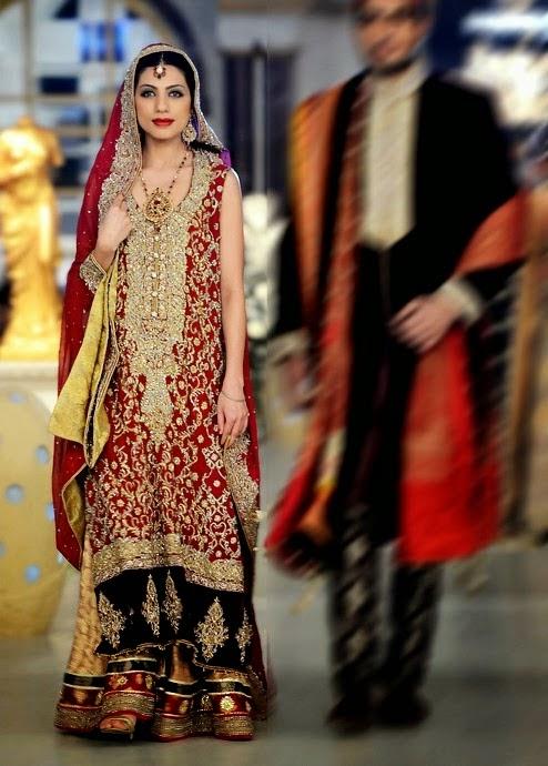 Deepak Perwani Stylish wedding dresses 2014