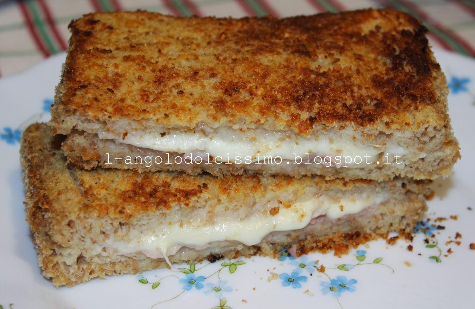 L 39 angolo dolcissimo mozzarella in carrozza al forno for Ricette mozzarella in carrozza al forno