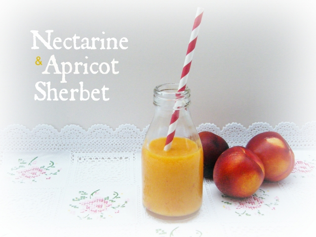 Tinned Tomatoes: Nectarine and Apricot Sherbet