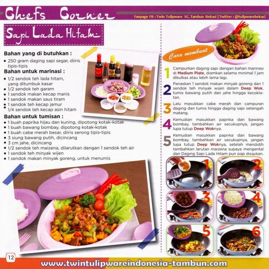 Resep Masakan Deep Wok Tulipware : Daging Sapi Lada Hitam