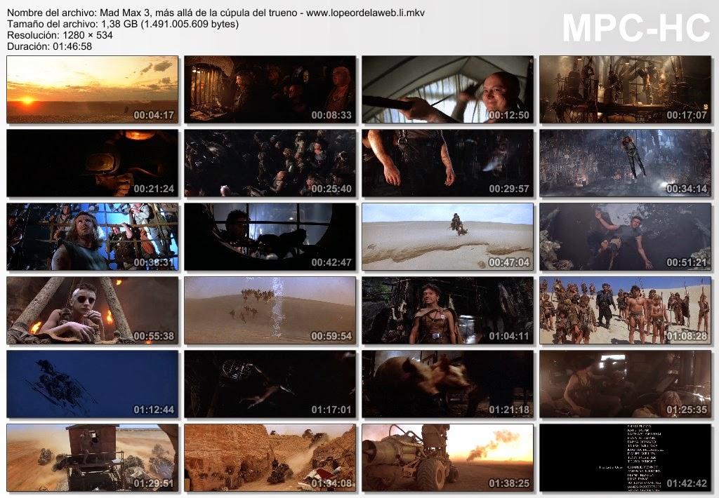 Mad Max Beyond Thunderdome (1985) BRrip 720p Latino-Ingles