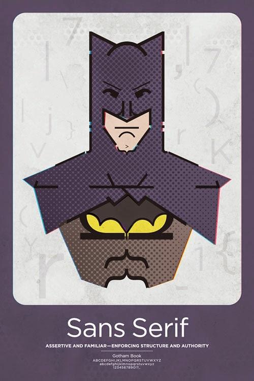 Superhero Typographic Posters