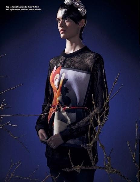 Givenchy 2013 AW Bambi Print Lace Sweatshirt
