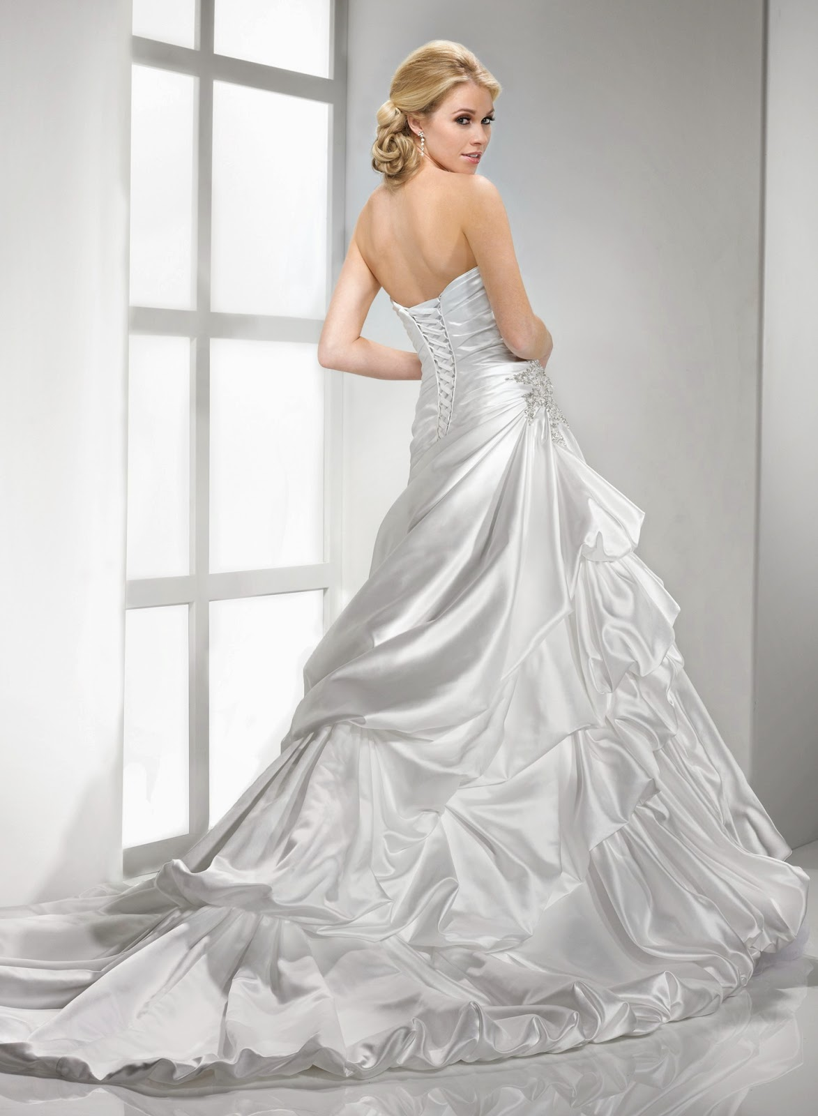 Satin Wedding Dress Idea