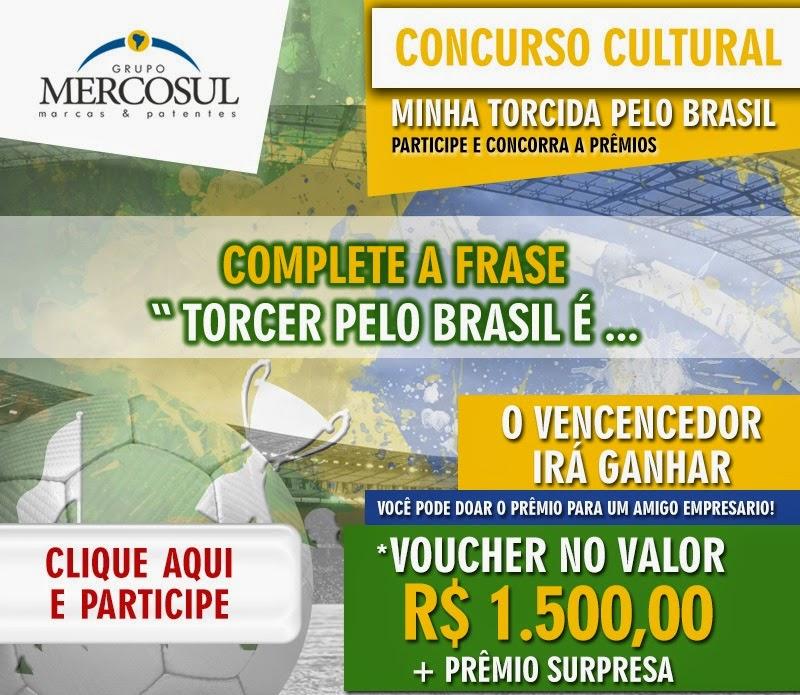 "Concurso cultural Mercosul - ""Minha torcida pelo Brasil"""
