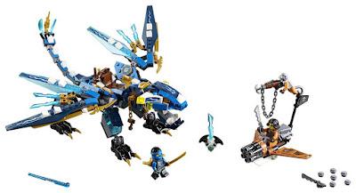 TOYS : JUGUETES - LEGO Ninjago70602 Dragón Elemental de JayJay's Elemental Dragon Producto Oficial 2016 | Piezas: 350 | Edad: 7-14 años Comprar en Amazon España & buy Amazon USA