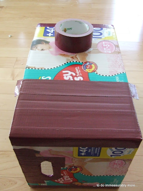 Duck Tape Sides of Diaper Box