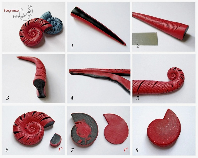 мастер-класс ракушка из полимерной глины