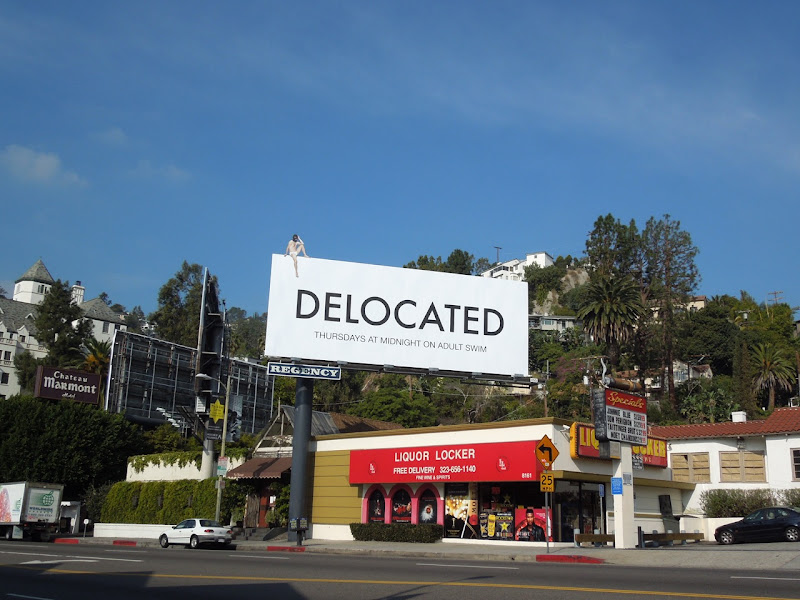 Delocated season 3 TV billboard