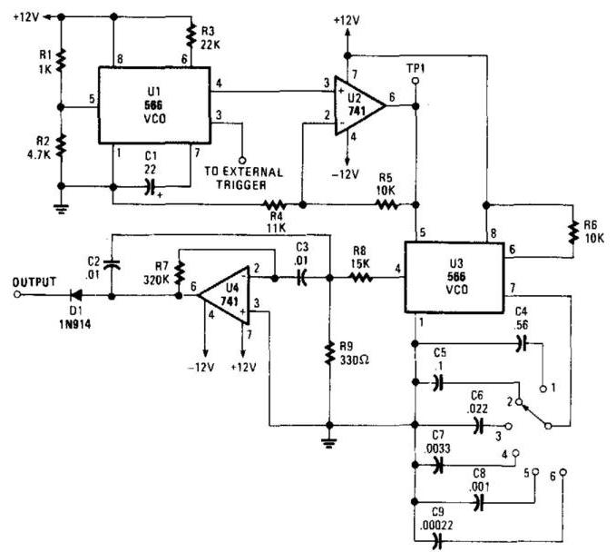 simple audio filter analyzer circuit
