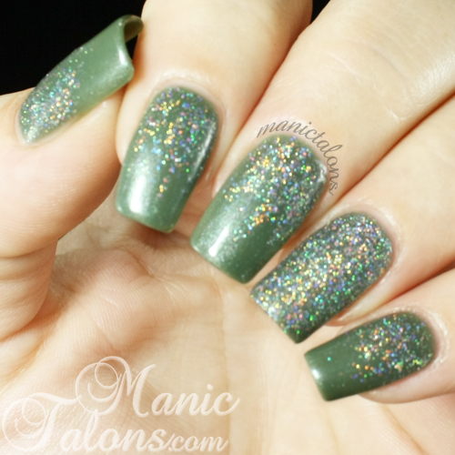 Poly Polish and T.E.N. Holographic Glitter Manicure