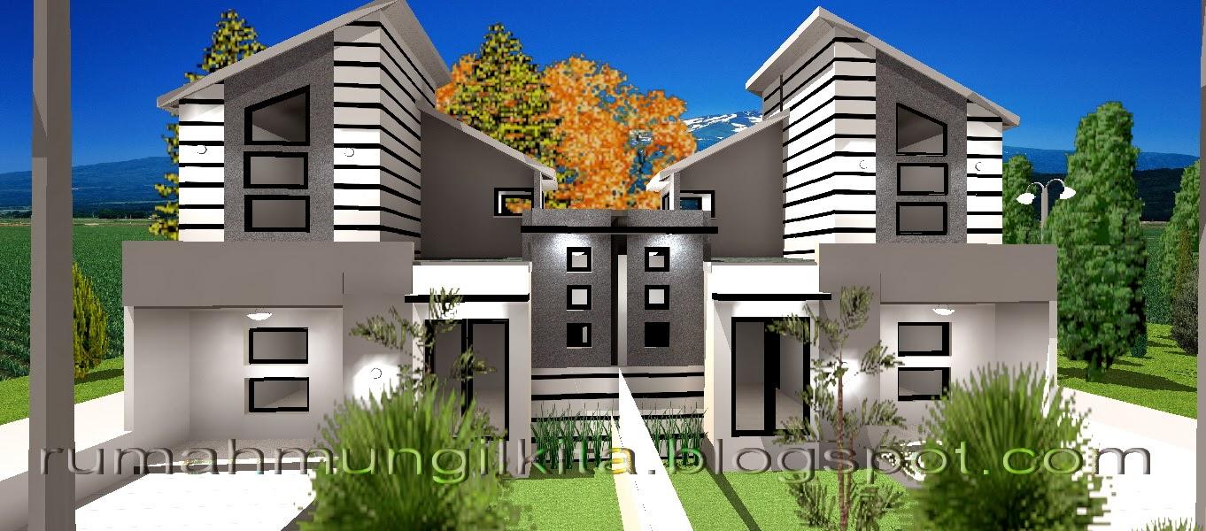 tampak luar rumah tipe 38 tanah 70 desain hitam putih