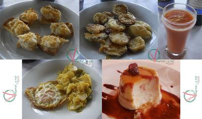Platos que componen el primer menú.