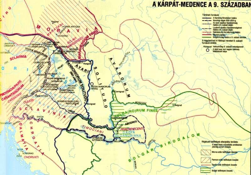 9. storočie na maďarských mapách