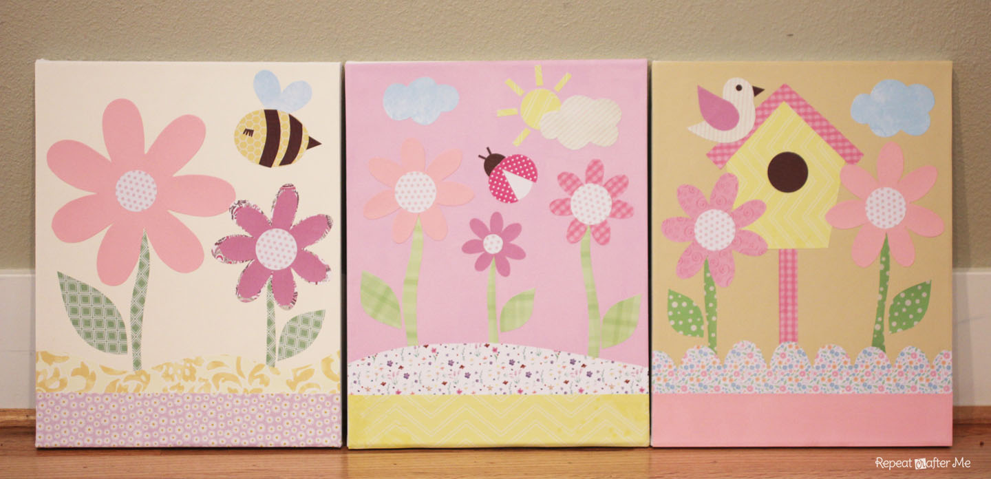 Baby Information Art Canvas projects for baby girl