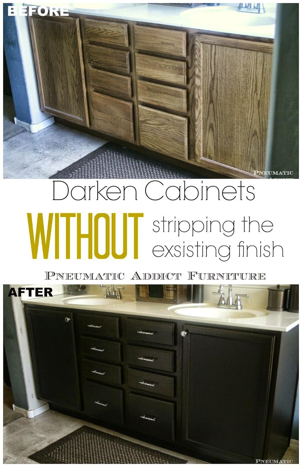 Darken cabinets without stripping