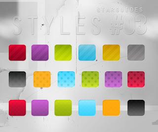 حزمة ستايلات الفوتوشوب الساطعة المجموعة الثالثة bright styles pack 3 Arab-Design