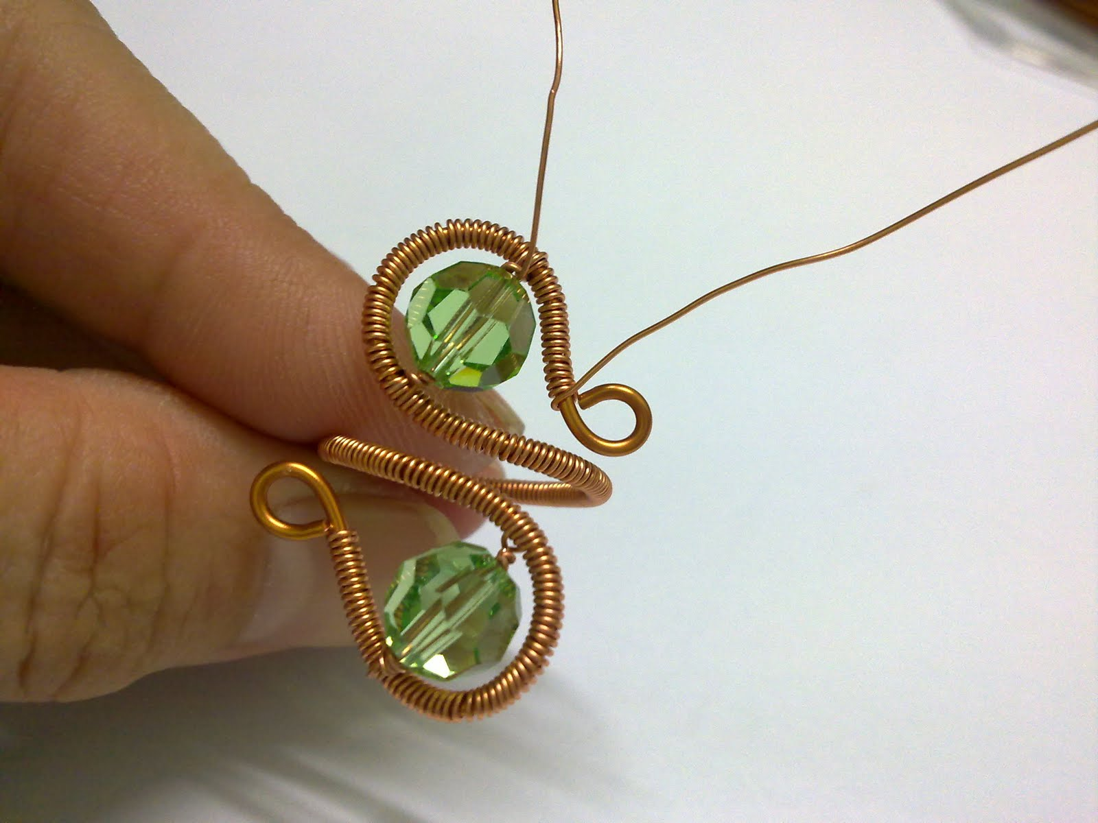 Emily Secret Passions: Free Tutorial ~ Wire Wrapped Beaded ...