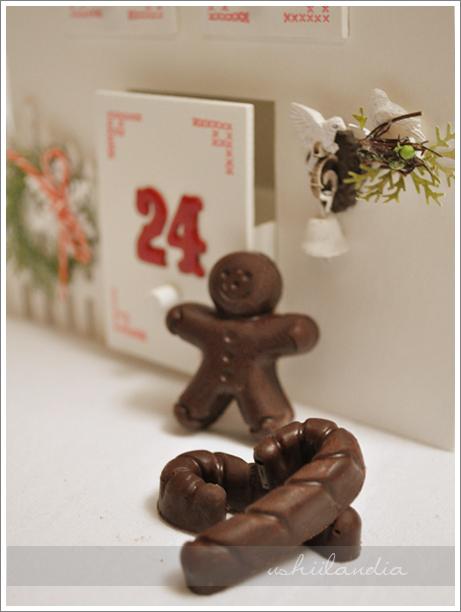 boże narodzenie - kalendarz adwentowy - czekoladki DIY