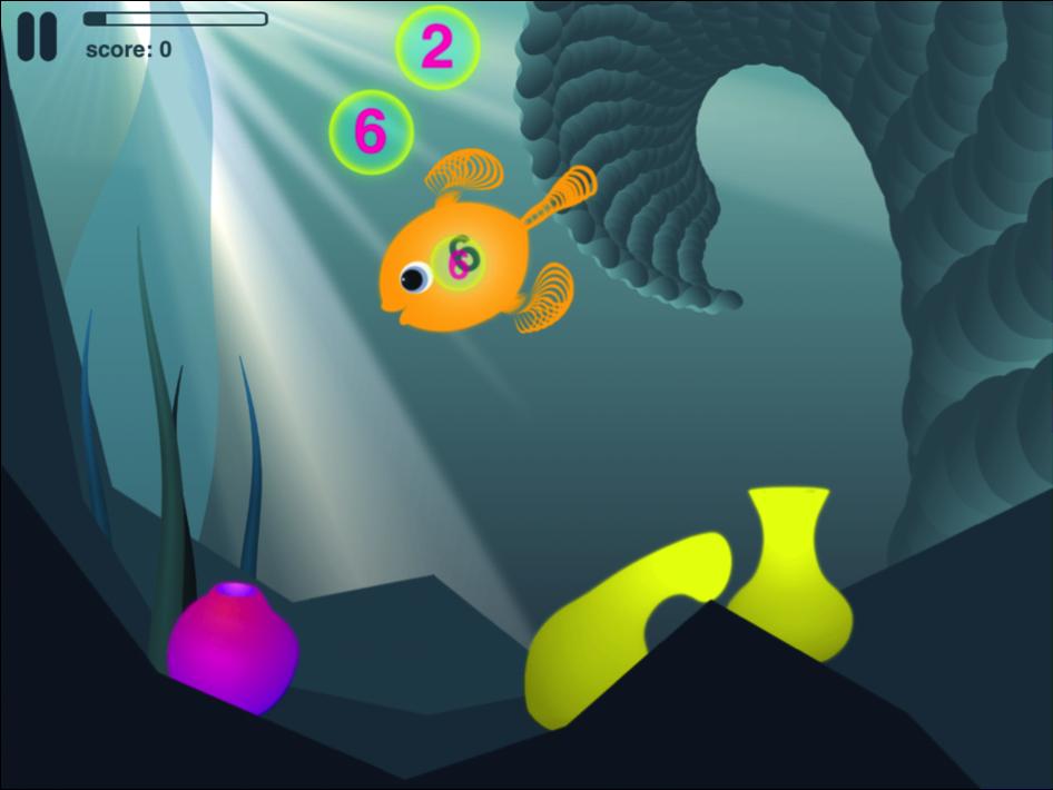 ... Tactile: Poisson Affame (Motion Math) : les maths en aquarium