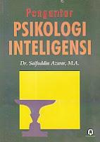 toko buku rahma: buku PENGANTAR PSIKOLOGI INTELIGENSI, pengarang saifuddin azwar, penerbit pustaka pelajar