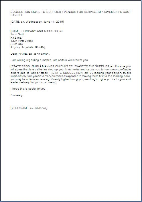Suggestion Letter Soroptimist Org Business Proposal Letter Samples