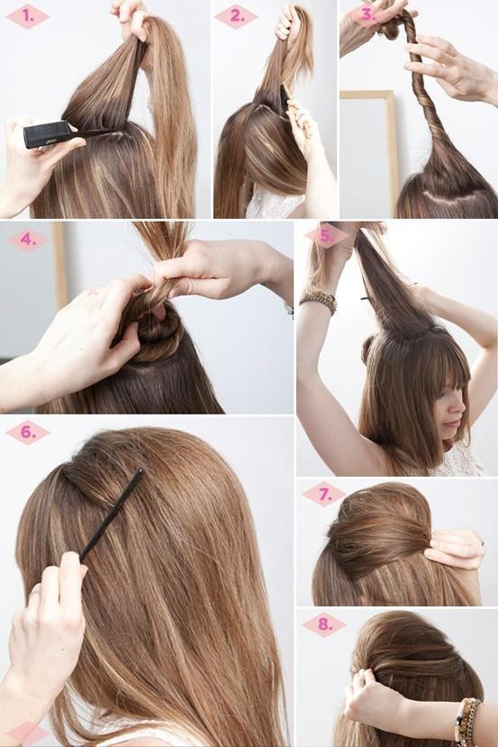 Peinados lindos y faciles paso a paso elainacortez - Peinados bonitos paso a paso ...