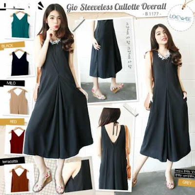 Jumpsuit Gio Sleeveless Cullotte Overall - 10429