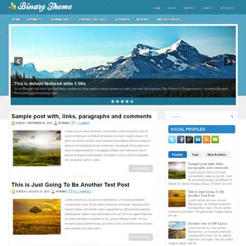 Bynary blog template. magazine blogger template style. magazine style template blogspot
