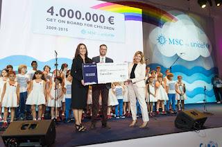 Msc Crociere raccoglie 4 milioni di euro per l'UNICEF