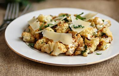 Roasted Cauliflower Salad with Lemon Herb Dressing