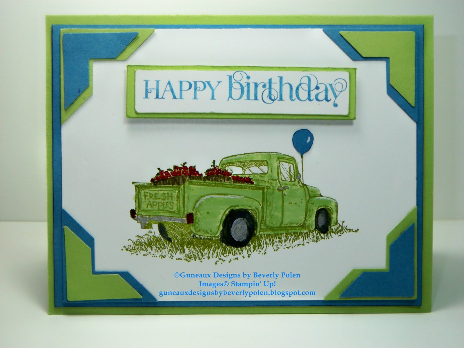 Guneaux Designs by Beverly Polen Stampin Up Countryside Happy – Country Birthday Cards