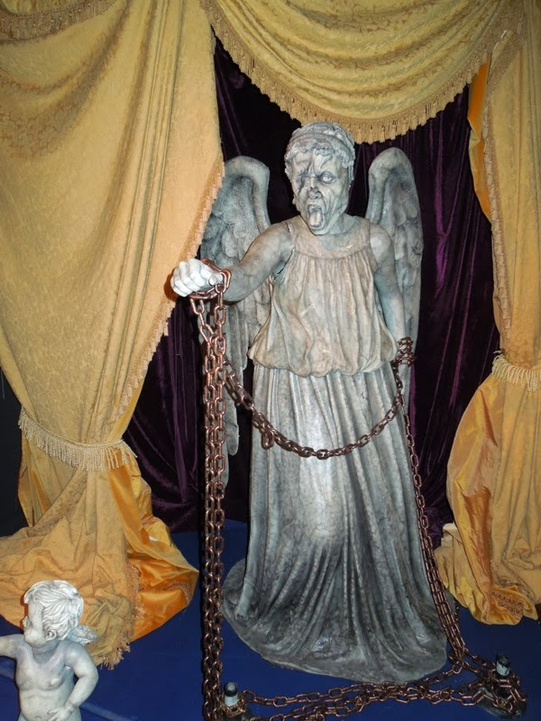 Chained Weeping Angel prop Doctor Who