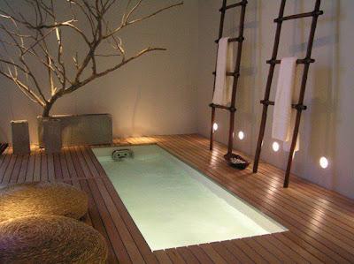 iluminación baño zen