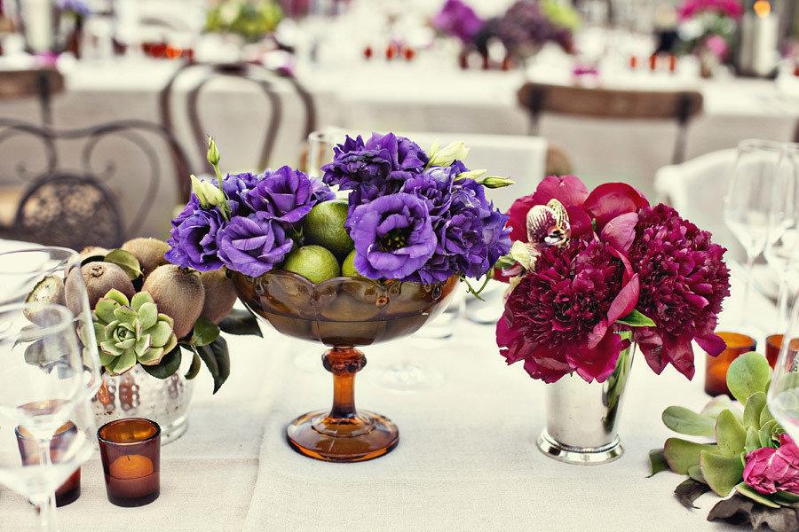 Wedding Decor Garden Themed Centerpieces