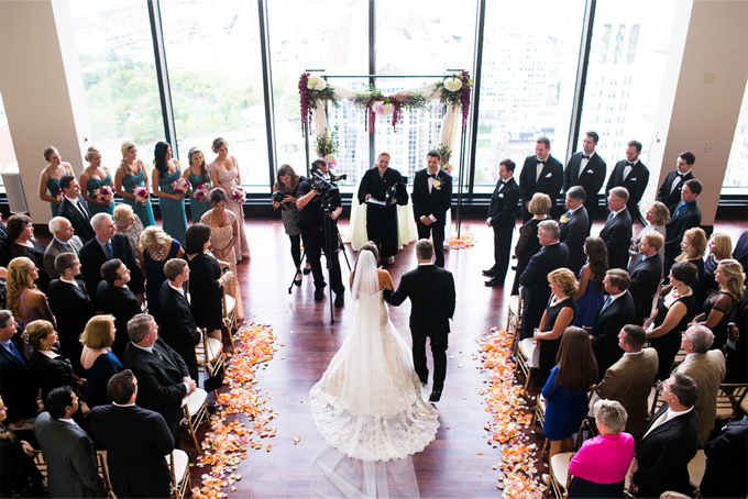 Lavish Boston Skyscraper Real Wedding