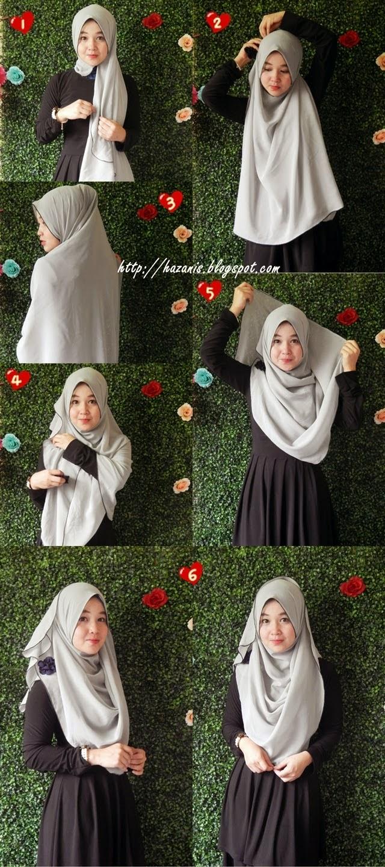 Meyya s lee tutorial memakai shawl wink