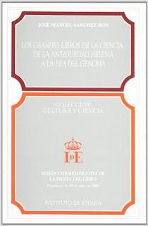 """""""Los grandes libros de la ciencia"""" - José Manuel Sanchez Ron."""