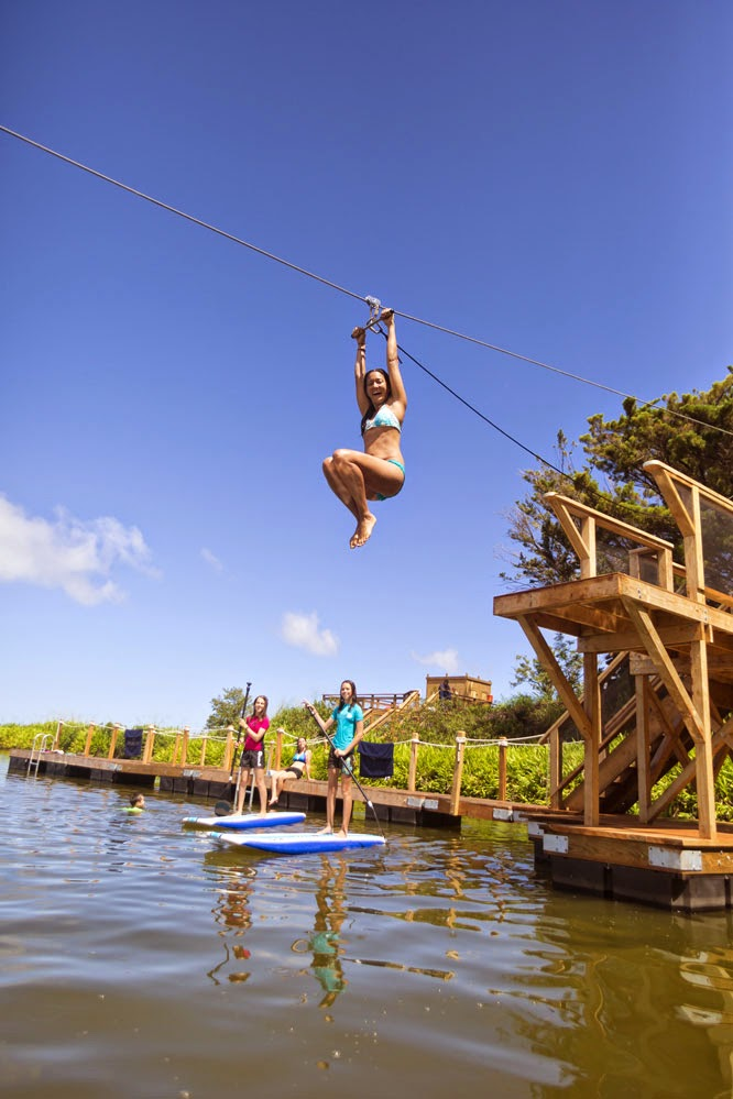 Kaanapali Ziplines Tours new Zip n Dip zipline Hawaii