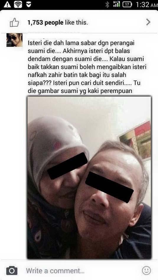 Rahsia suami kantoikan isteri curang dengan lelaki lain terbongkar