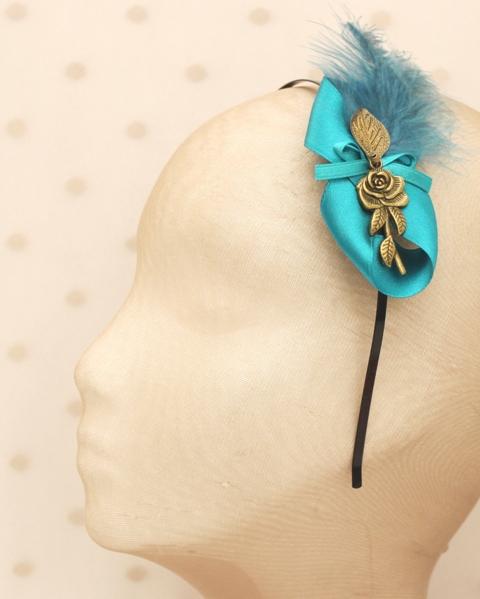 Colección Picnic - Diadema hoja azul