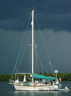 Boat electronics in a storm
