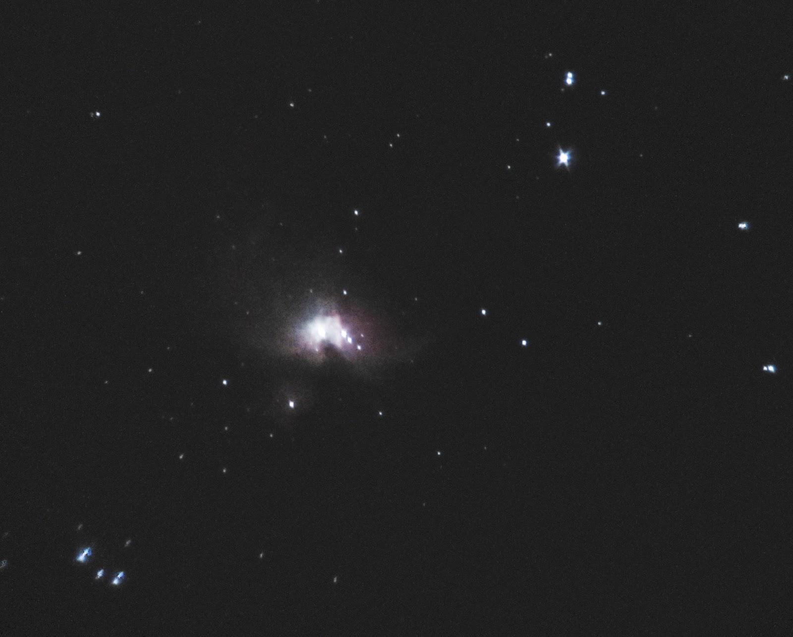Images of a nebula through telescope spacehero
