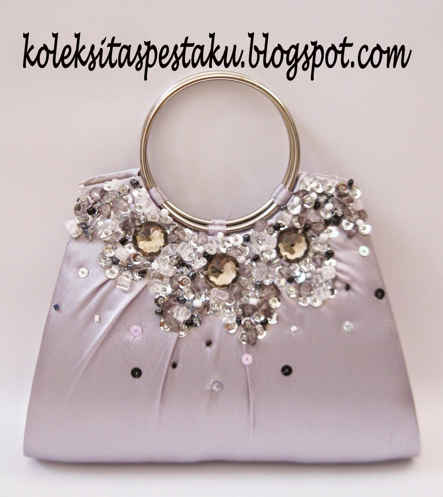 Tas Pesta Dompet Mewah Silver Cantik dan Mewah Model Terbaru