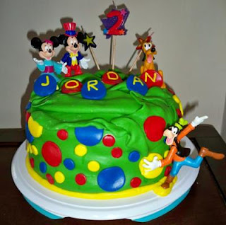 Sweety Mickey Mouse Birthday Cake