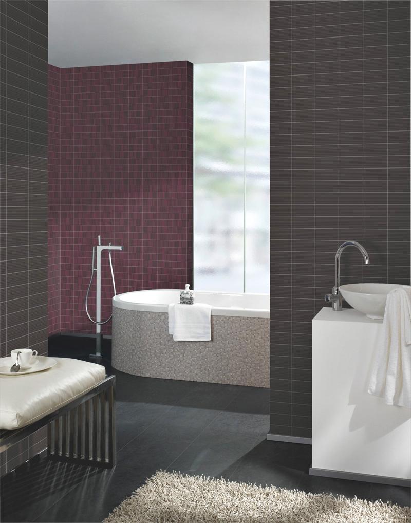 Azulejos Baño Pintados:papel pintado: Papel Pintado Stones Style Para Baños