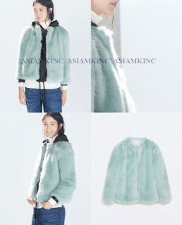 ZARA Women Colored Fur Coat M L Medium Large