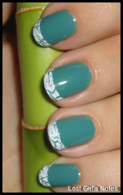 crackled tips mani with ocean love potion sephora by opi and crackled overcoat
